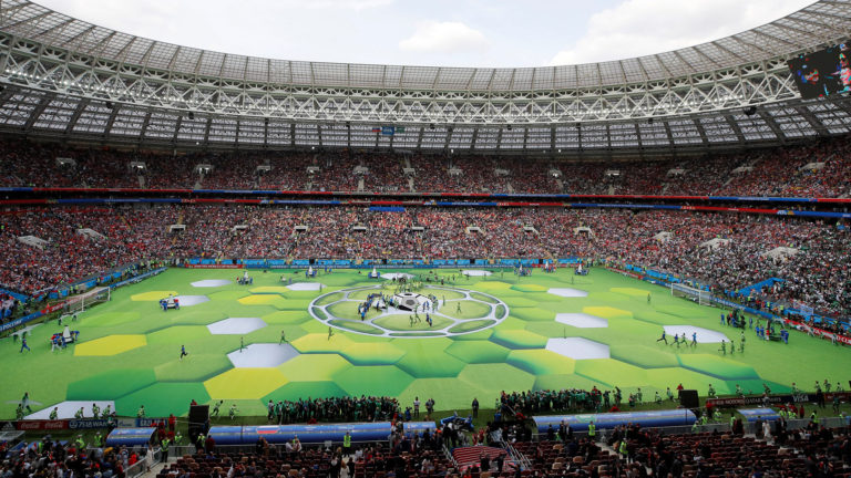 Soccer Football - World Cup - Opening Ceremony - Luzhniki Stadium, Moscow, Russia - June 14, 2018 General view before the opening REUTERS/Maxim Shemetov